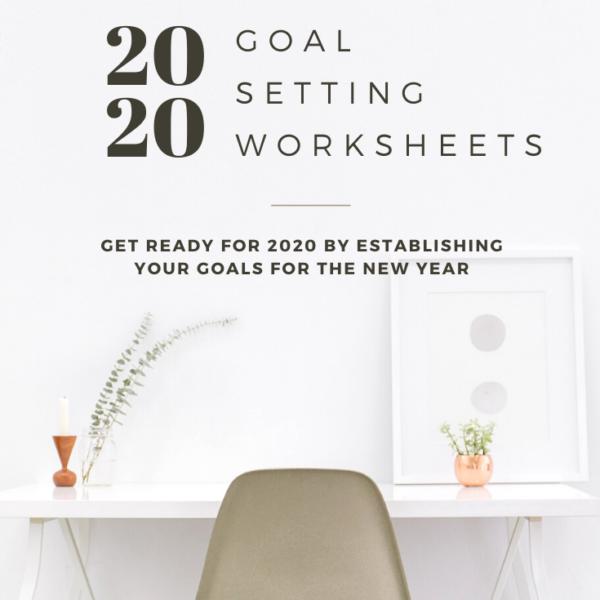 2020 Goals Worksheets